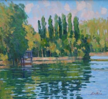 Scottish Artist George DEVLIN - The Seine Nr Limetz-Villez