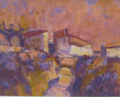 Scottish Artist George DEVLIN - Cevennes Evening