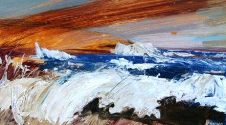 Scottish Artist Georgie YOUNG - Rough Sea