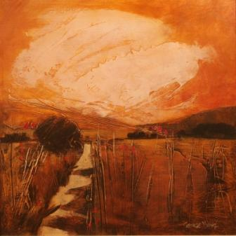 Scottish Artist Georgie YOUNG - Yellow Field