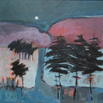 Scottish Artist Georgie YOUNG - Hillside Moon