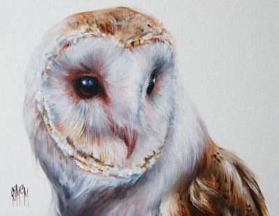 Scottish Artist Georgina McMASTER - Oriel - Barn Owl