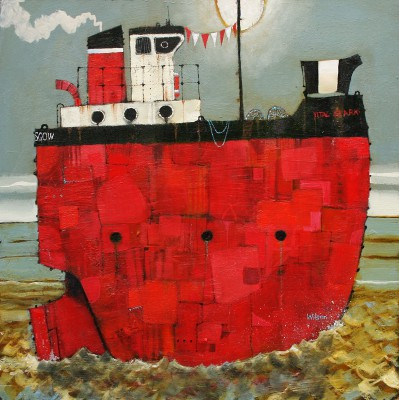 Scottish Artist Gordon WILSON - The Skipper and the Spark