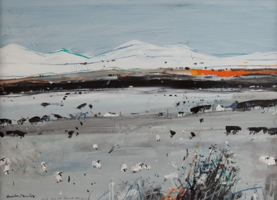 Scottish Artist Hamish MacDONALD - Cold Day at Beinn Alligin