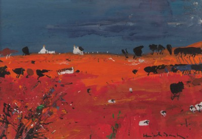 Scottish Artist Hamish MacDONALD - Red Field