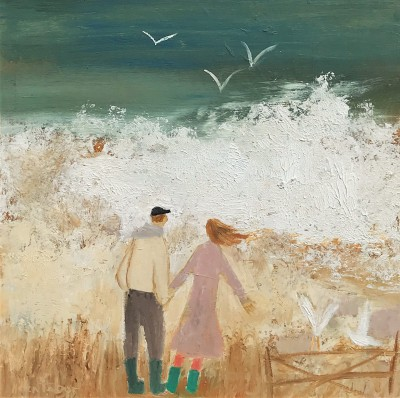 Scottish Artist Helen TABOR - Watching the Waves