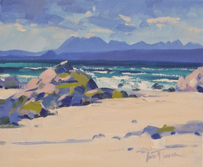 Scottish Artist Helen TURNER - The Cuillin Ridge
