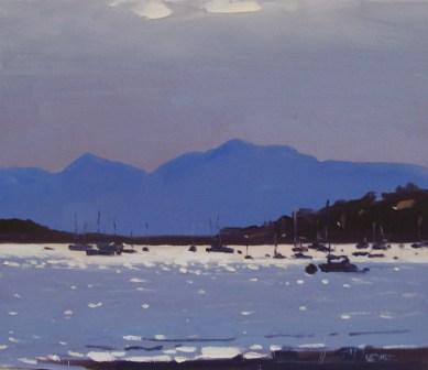 Scottish Artist Helen TURNER - Silver Light, The Cumbrae