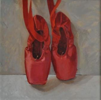 Scottish Artist Helen WILSON  RGI - Big Red Shoes