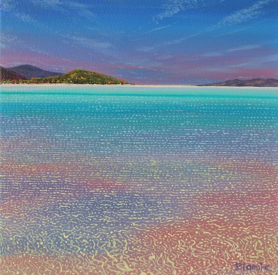 Glimmering Shoreline, Luskentyre, Isle of Harris painting by artist Hope BLAMIRE