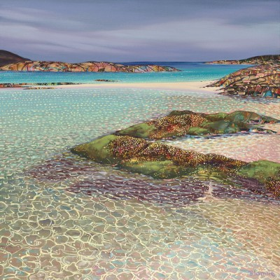 Scottish Artist Hope BLAMIRE - Glistening Shoreline, Ardnamurchan