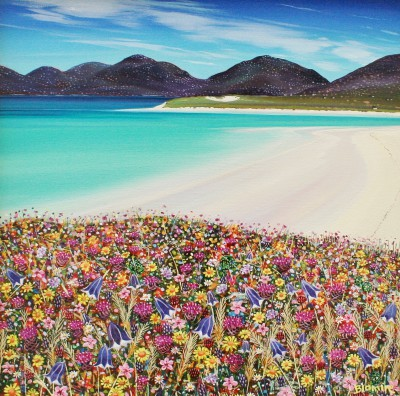 Scottish Artist Hope BLAMIRE - Seilebost Machair, Isle of Harris