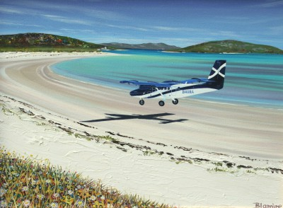 Scottish Artist Hope BLAMIRE - Beach Landing, Barra