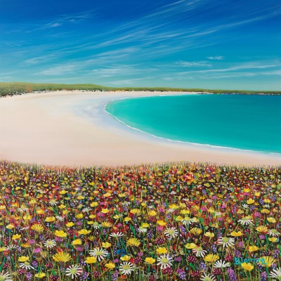 Scottish Artist Hope BLAMIRE - Crossapol Machair, Tiree