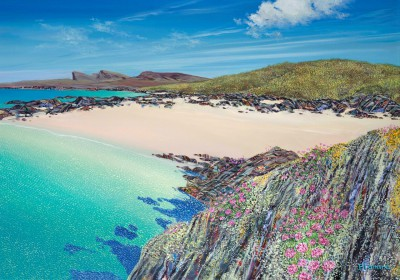 Scottish Artist Hope BLAMIRE - Saligo Sea Pinks, Islay