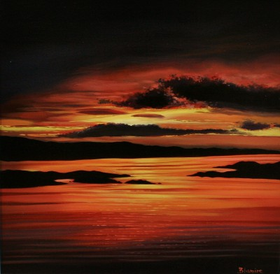 Scottish Artist Hope BLAMIRE - Golden Hour on the Golden Road, Harris