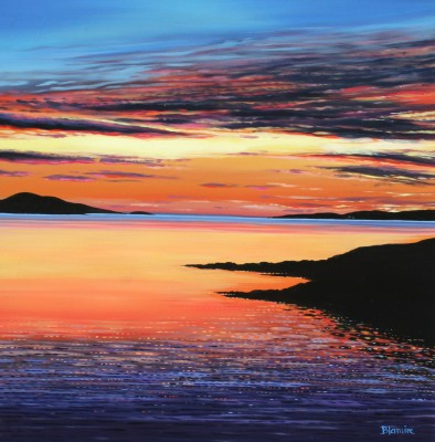 Scottish Artist Hope BLAMIRE - Luskentyre Sunset
