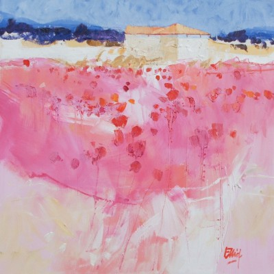 Spring Pinks, Tuscany painting by artist Ian ELLIOT