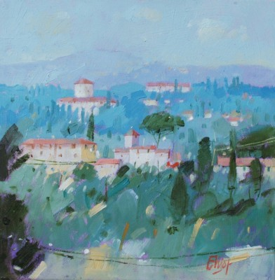 Behind Pitti Palace, Florence painting by artist Ian ELLIOT