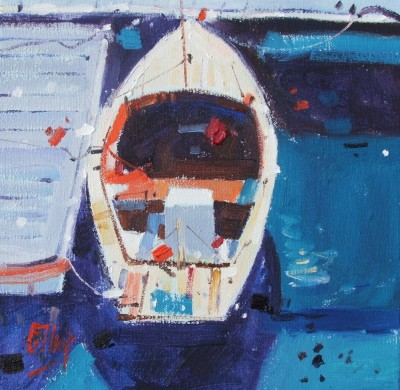 Scottish Artist Ian ELLIOT - Small Craft, Guernsey