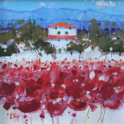 Scottish Artist Ian ELLIOT - Summer Splendour, Tuscany