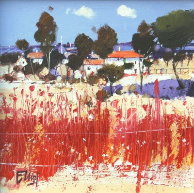 Ian ELLIOT - Red Fence, Provence