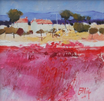 Scottish Artist Ian ELLIOT - Working Farm Arno Valley Tuscany