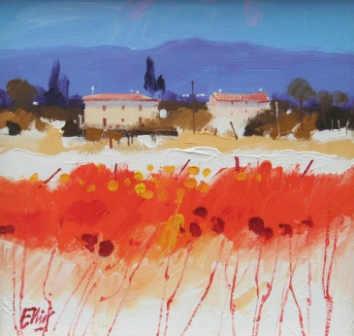 Scottish Artist Ian ELLIOT - Happy Days, Tuscany