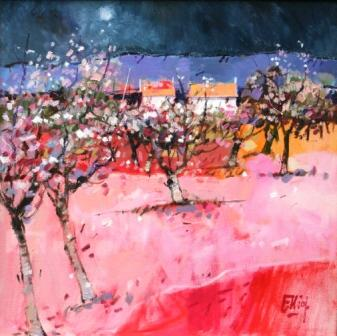 Scottish Artist Ian ELLIOT - Night Blossom, Mallorca