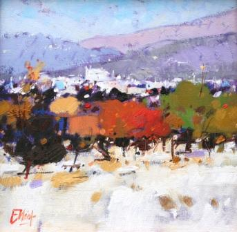 Scottish Artist Ian ELLIOT - Autumn, Calvia