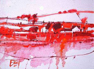 Scottish Artist Ian ELLIOT - Red Earth, Ayrshire