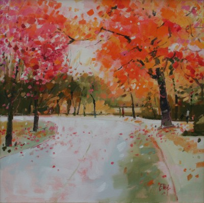 Scottish Artist Ian ELLIOT - Autumn, Vondelpark, Amsterdam