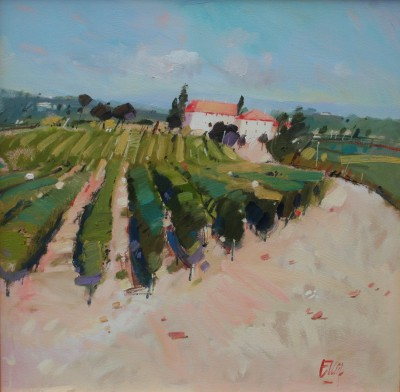 Scottish Artist Ian ELLIOT - Castello in July, Tuscany