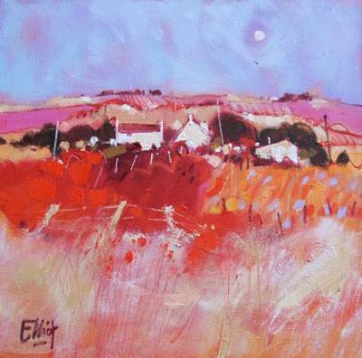 Scottish Artist Ian ELLIOT - High Moon over the Moors