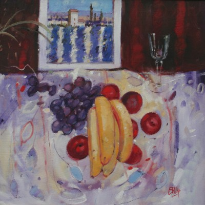 Scottish Artist Ian ELLIOT - Provencal Table