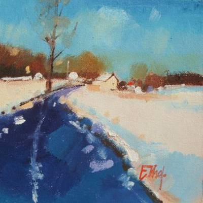 Scottish Artist Ian ELLIOT - Yesterday's Snow, Stirlingshire