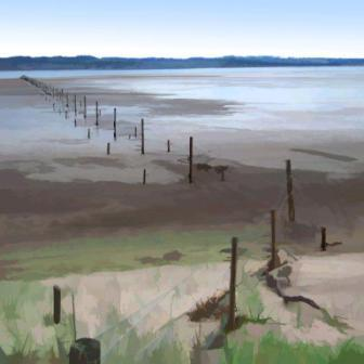 Ian LEDWARD - Salmon Poles on the Tay