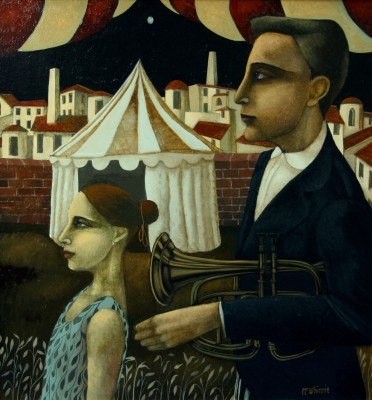 Scottish Artist Ian McWHINNIE - Circus Family