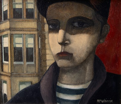 Scottish Artist Ian McWHINNIE - Tenement Portrait