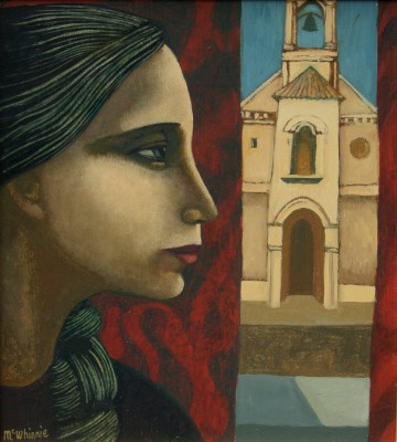 Scottish Artist Ian McWHINNIE - Church, Andalusia