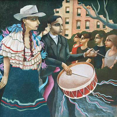 Scottish Artist Ian McWHINNIE - Hispanic Day Parade, New York