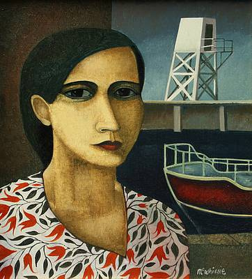 Scottish Artist Ian McWHINNIE - Harbour Portrait