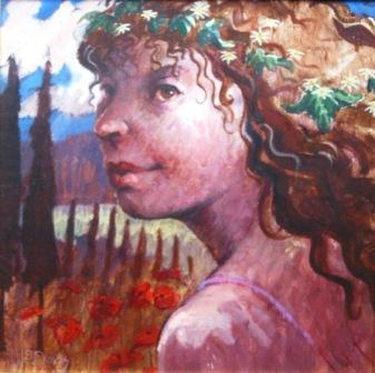 Scottish Artist James DAVIS - Fleeting Glance  - Tuscany