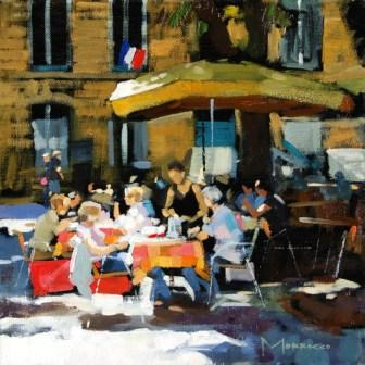 Scottish Artist Jack MORROCCO - Sunlight and Shadows, Aix