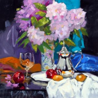 Scottish Artist Jack MORROCCO - Rhododendrons and Rummer