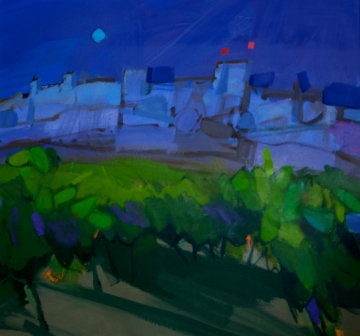 Scottish Artist Jacqueline ORR - Night Vines, Aigueze