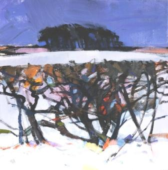 Scottish Artist Jacqueline ORR - Winter Hedgerow