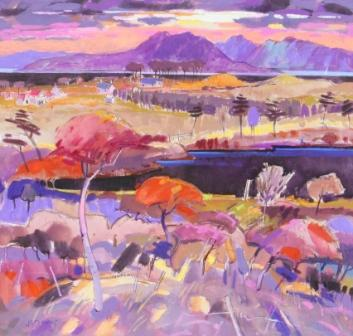 Scottish Artist James DAVIS - Morning Fisher