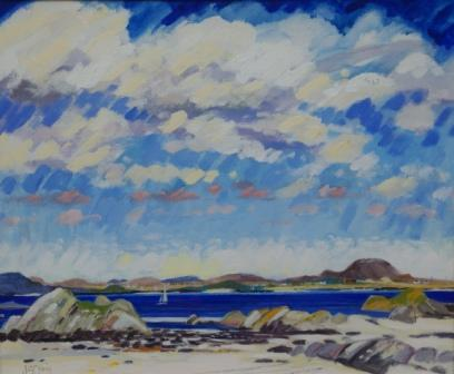 Scottish Artist James DAVIS - Summer Morning, Iona