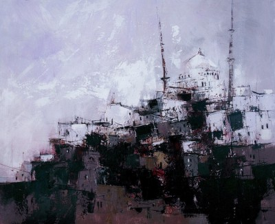 Scottish Artist James SOMERVILLE - Istanbul Skyline